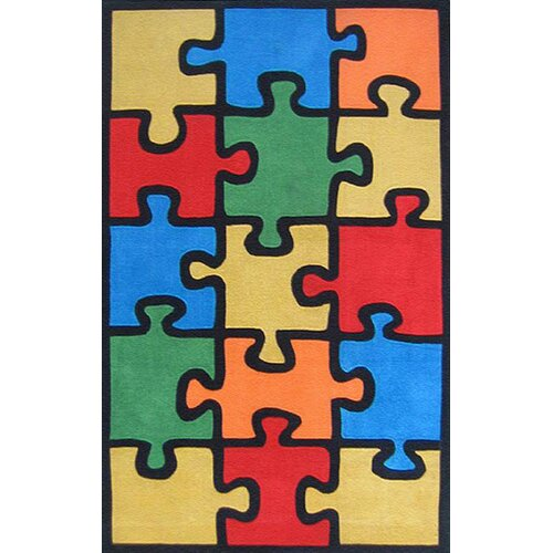 American Home Rug Co. Kiddie Jigsaw Puzzle Kids Rug
