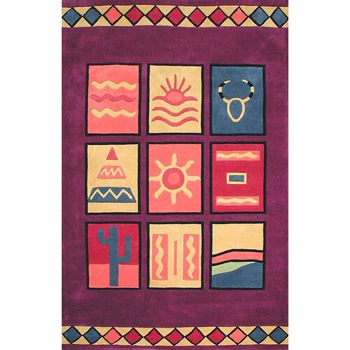 American Home Rug Co. Bright Rug Purple Sizzle Novelty Rug