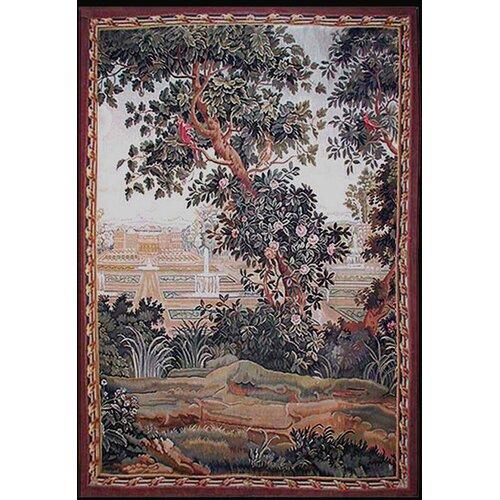 Grandeur Landscape Blooming Tree Novelty Rug