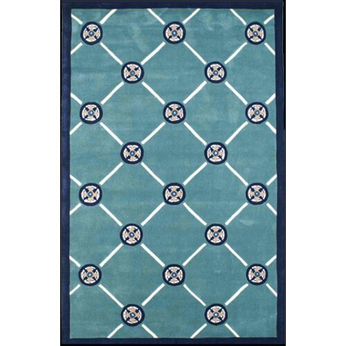 Beach Rug Teal Compass Novelty Rug