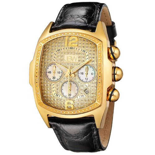 Men's Ceasar Watch in Black with Gold Dial