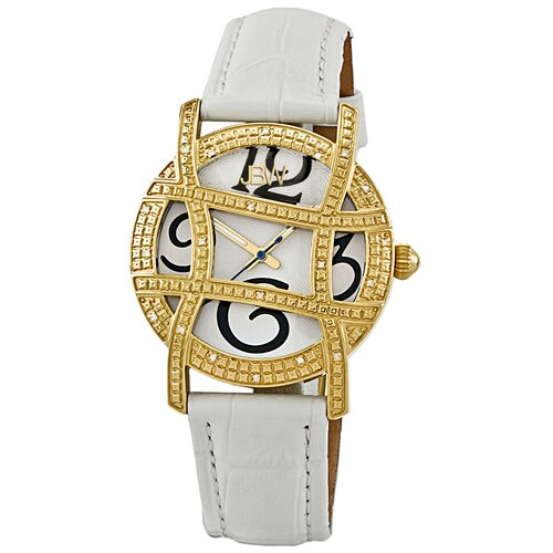JBW Women's Olympia Leather Watch in White