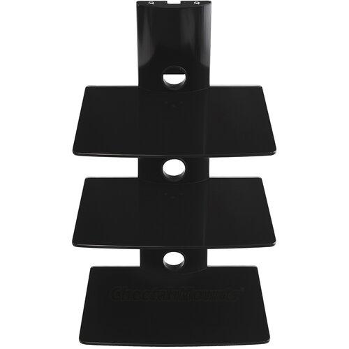 Tri-Shelf Wall Mount Bracket in Black