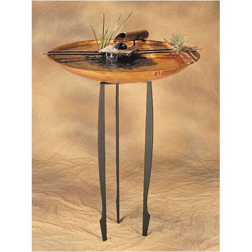 Copper Nature Bowl Large Tabletop Fountain