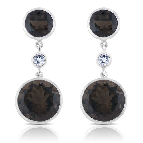 Angelina Gemstone and Sterling Silver Earrings