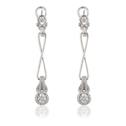 Élan Jewelry Silver-Tone Cubic Zirconia Fashion Earrings