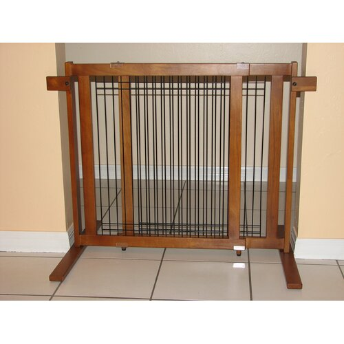Crown Pet Products Freestanding Wood/Wire Pet Gate