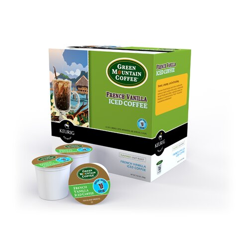 Keurig Green Mountain Coffee Roasters French Vanilla Iced Coffee K-Cup (Pack of 96)
