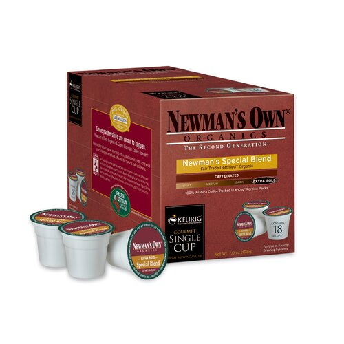 Keurig Newman's Own Organics Special Blend Coffee K-Cup (Pack of 108)