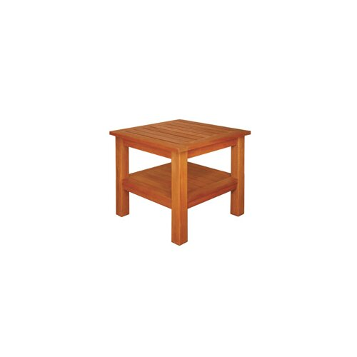 Blue Star Group Terrace Mates Two Shelf High Square Side Table