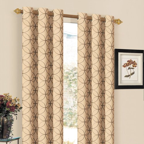 DR International Orleans Embroidered Grommet Curtain Single Panel