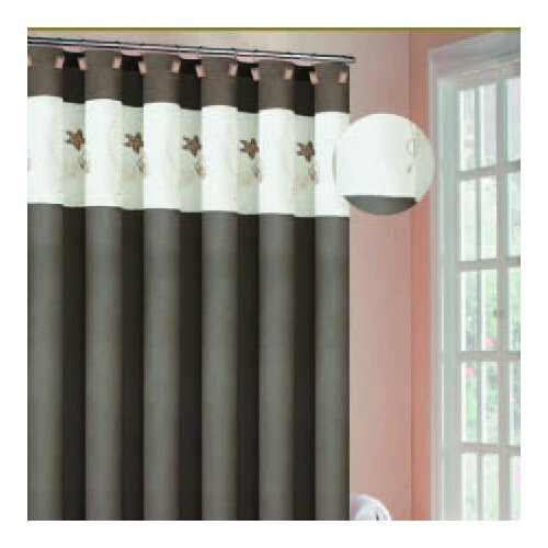 DR International Oceana Polyester Embroidered Shower Curtain