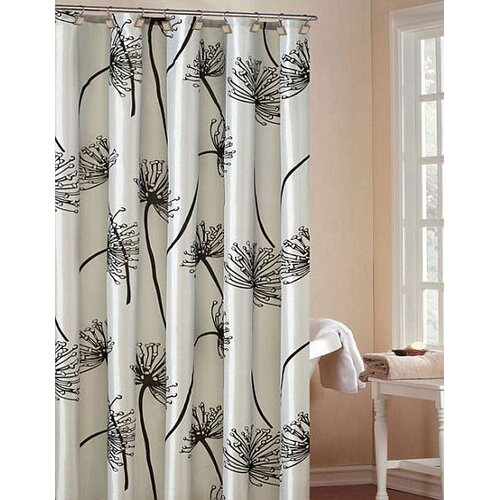 DR International Soleil Faux Silk Shower Curtain