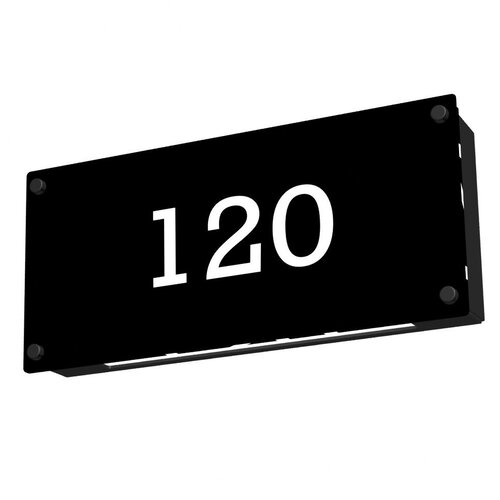 Media Outdoor LED Light Address Plate