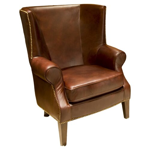 Elements Fine Home Furnishings Camden Top Grain Leather Chair