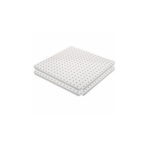 Alligator Board Metal Pegboard Panels with Flange in White