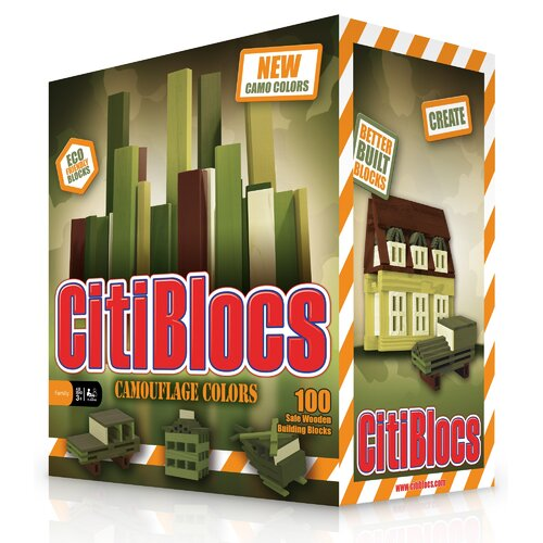Citiblocs Building Block Set in Camo Colors