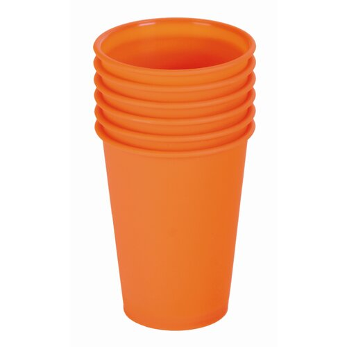 "Contento 6-tlg. Becher-Set ""Picnic"" in Orange"
