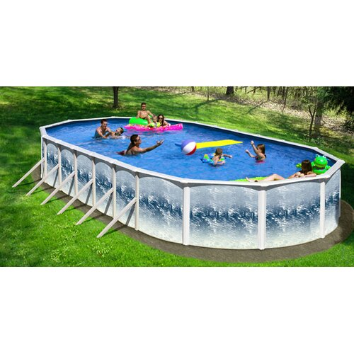 "Infinity Pools Oval 52"" Deep SS Series Oval Swimming Pool"