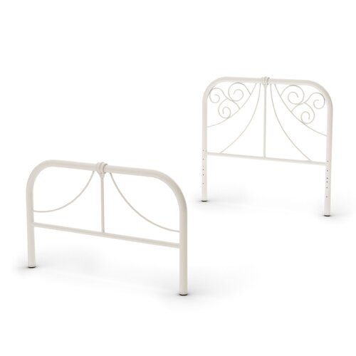 Amisco Ballerina Twin Size Metal Headboard and Footboard