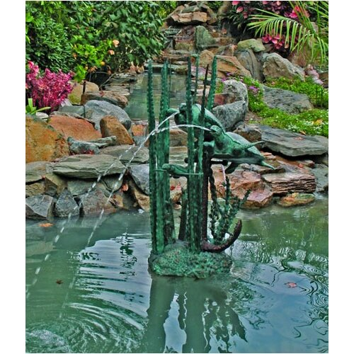 Brass Baron Sea Life Undersea Turtles Fountain