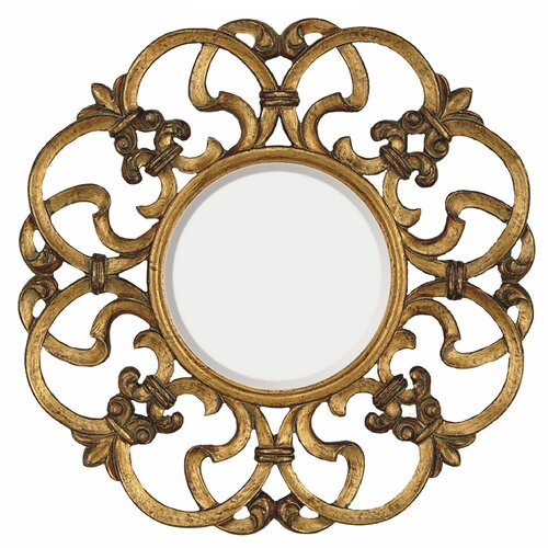 Majestic Mirror Traditional Round Bevel Wall Mirror
