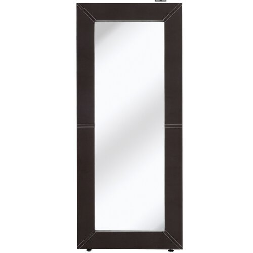 Majestic Mirror Contemporary Leather Plain Mirror