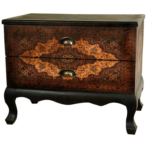 Olde-Worlde Euro 2 Drawer Cabinet