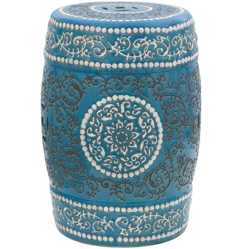 Oriental Furniture Medallion Porcelain Garden Stool