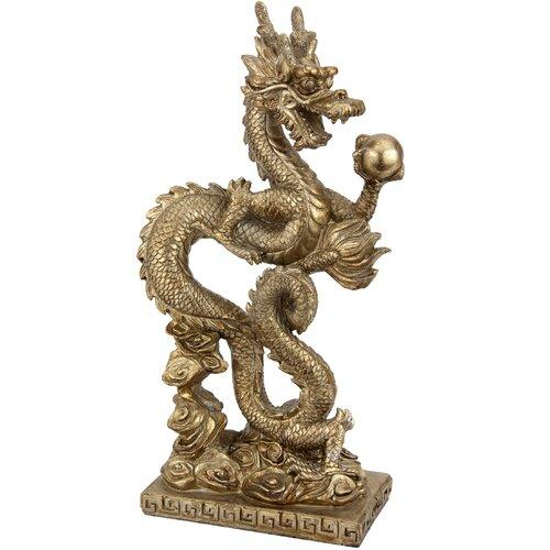 Standing Long Dragon Statue