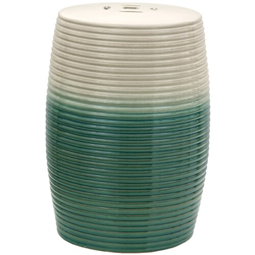 Ribbed Porcelain Garden Stool