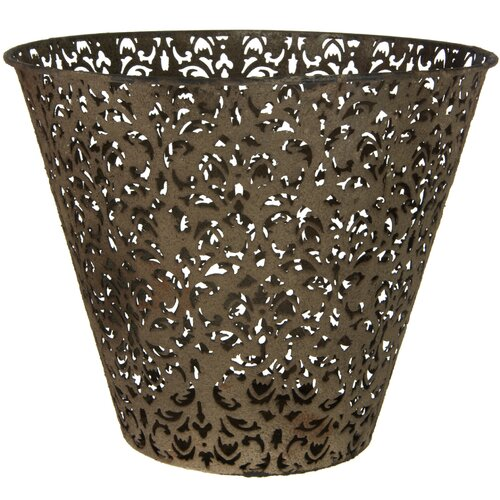 Filigree Wrought Iron Waste Basket