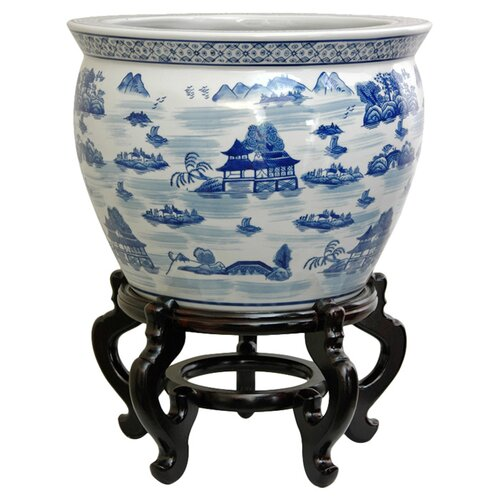 Oriental Furniture Landscape Vase
