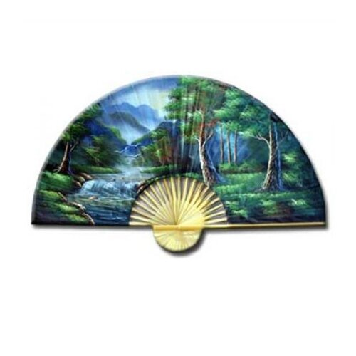 Oriental Furniture Asian Forest Oriental Fan Wall Décor