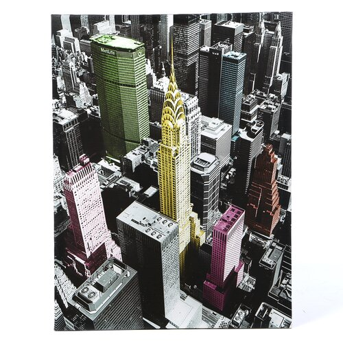 High-Lights of New York Graphic Art on Canvas