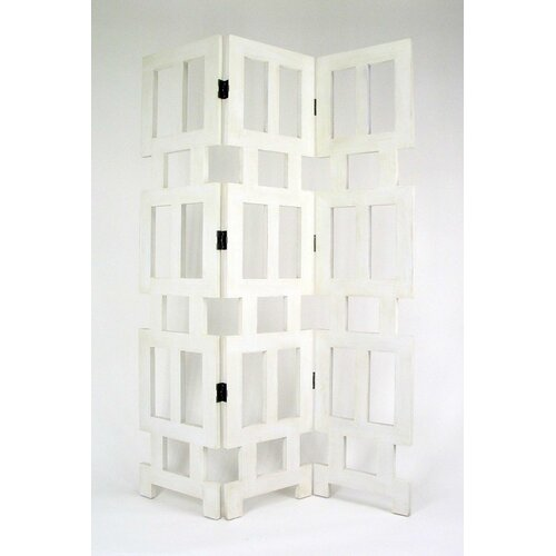 "Oriental Furniture 78"" x 54"" Albertson 3 Panel Room Divider"