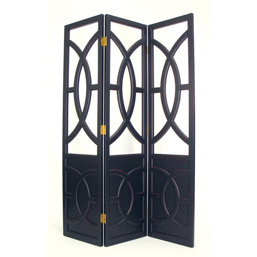 "Oriental Furniture 76"" x 54"" Florence 3 Panel Room Divider"