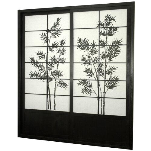 "Oriental Furniture 83"" x 73.5"" Bamboo Tree Shoji Sliding Room Divider"