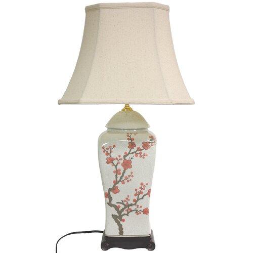 "Oriental Furniture 26"" H Blossom Vase Table Lamp"