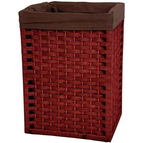 """Oriental Furniture 17"""" Natural Fiber Basket in Mahogany"""