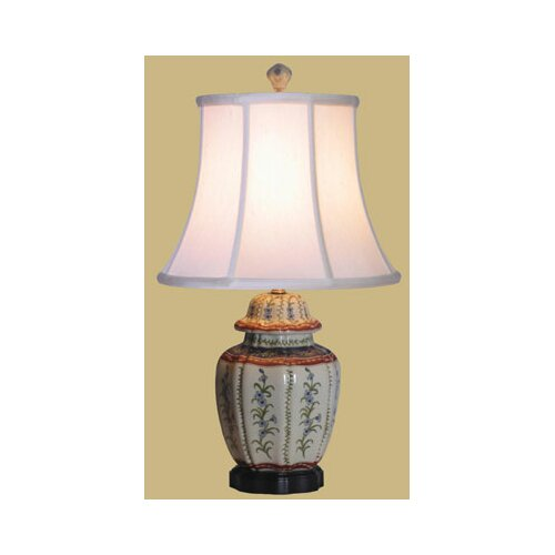 Oriental Furniture French Porcelain Jar Table Lamp