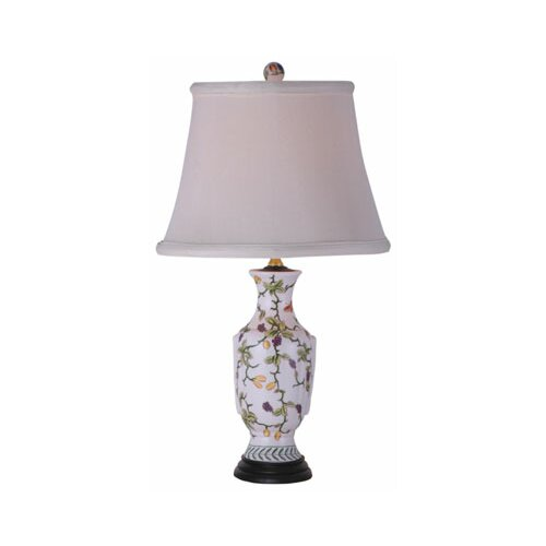 "Oriental Furniture Porcelain Vase 21"" H Table Lamp"