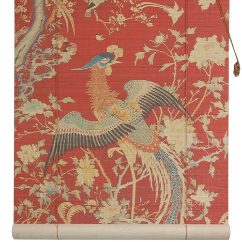 Red Phoenix Bamboo Roller Blind