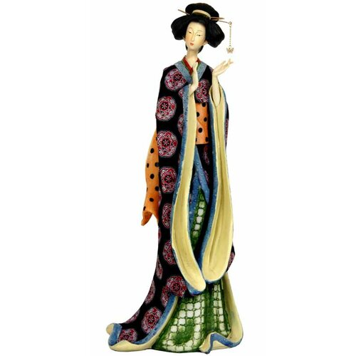 Geisha with Pale Gold Sash Figurine