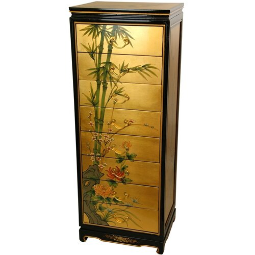 Gold Leaf 8 Drawer Cabinet