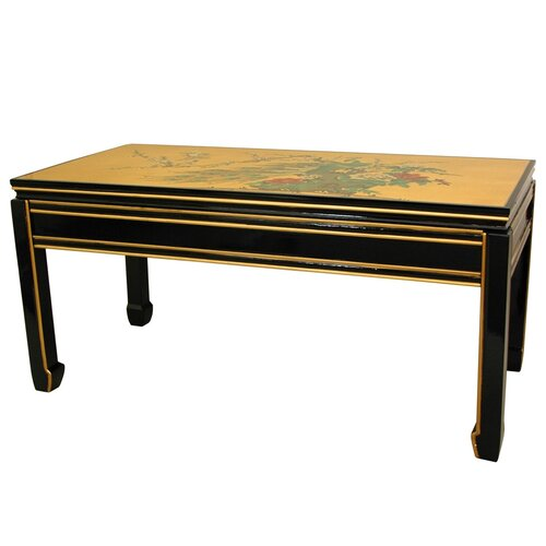 Oriental Furniture Gold Leaf Coffee Table