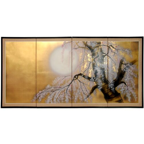 Gold Leaf Sakura Blossom Framed Original Painting