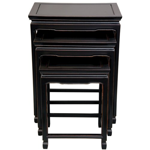 Oriental Furniture 3 Piece Nesting Tables