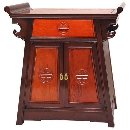 Altar 1 drawer cabinet wayfair for Mobel asia style