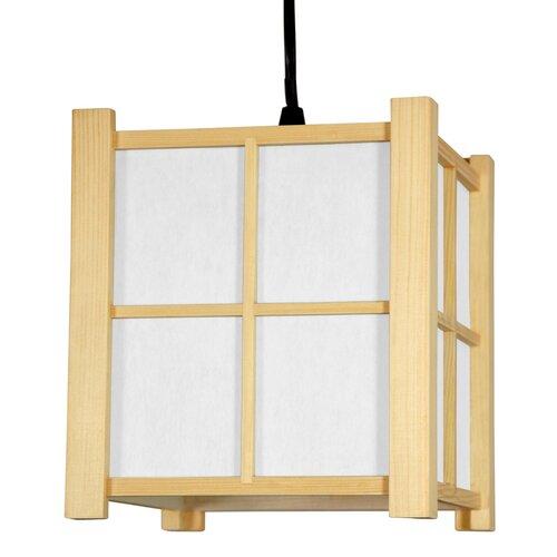 Oriental Furniture Japanese Boku 1 Light Hanging Lantern